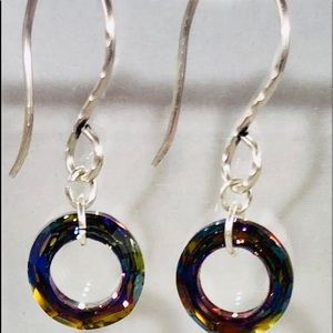 .925 Sterling Silver and Swarovski Crystal Earring